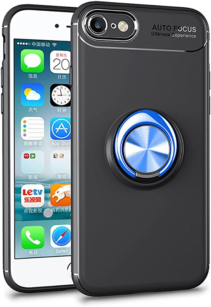 ANERNAI iPhone 5 5S SE 360Degree Rotating Ring Shockproof Compatible Magnetic Car Mount Cover for iPhone 5