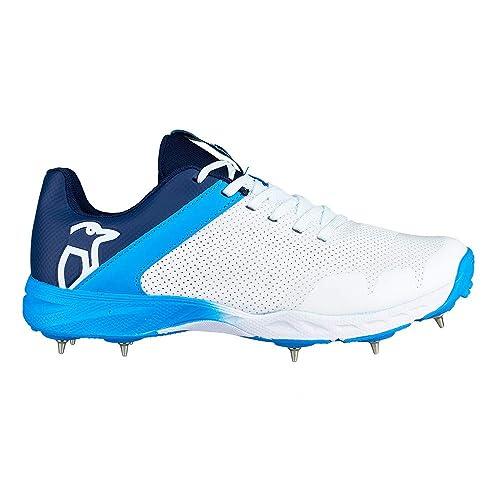 9e407e2f7d8 Kookaburra 2019 KC 2.0 Mens Adult Cricket Shoe Spike White Blue ...