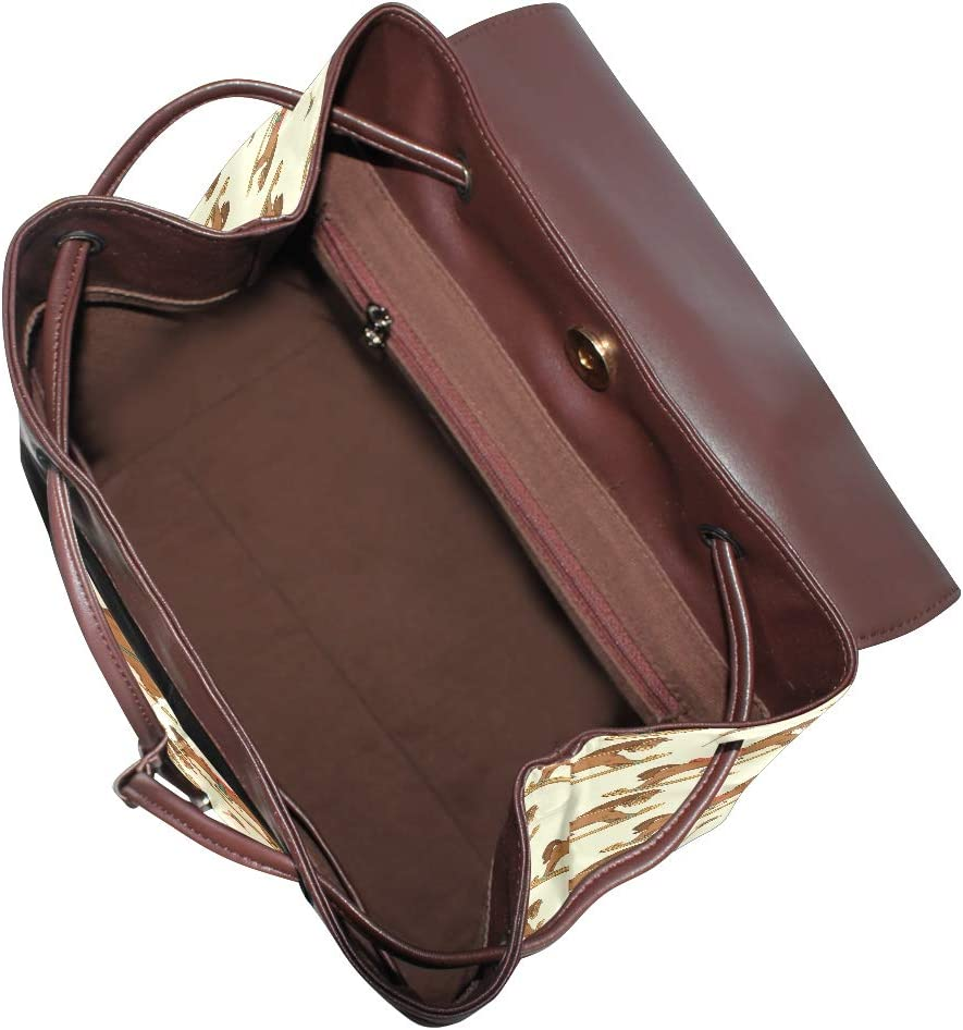 Fashion Shoulder Bag Rucksack PU Leather Women Girls Ladies Backpack Travel Bag Large Ancient General Trojan