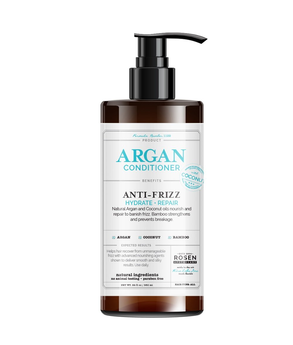 Rosen Apothecary Natural Argan & Coconut Oils Hair Conditioner 32oz/960ml Kira Labs Inc