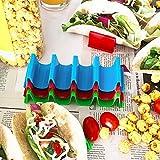 Taco Holder Stand Set of 6 Dishwasher Safe Aichoof