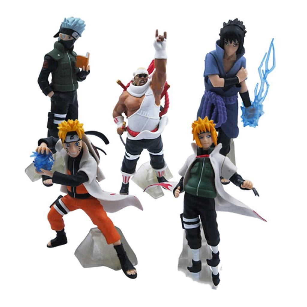 SYDDP Anime Toys Naruto Anime Model Character 32 Generation PVC Model Doll Statue Art Statue Cartoon Character Decoration 5pcs Anime Toy Models
