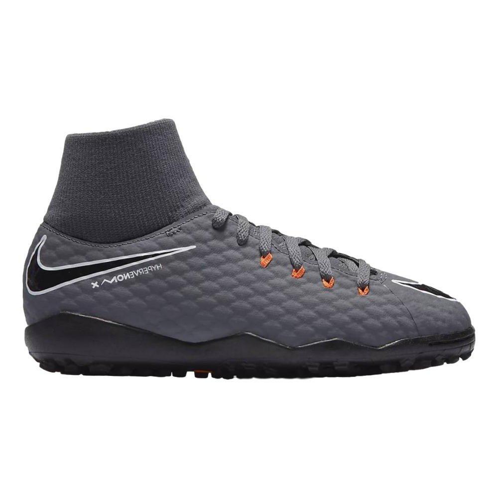 5.5Y Dark Grey Nike Youth Hypervenom Phantomx 3 Academy DF Turf Shoes