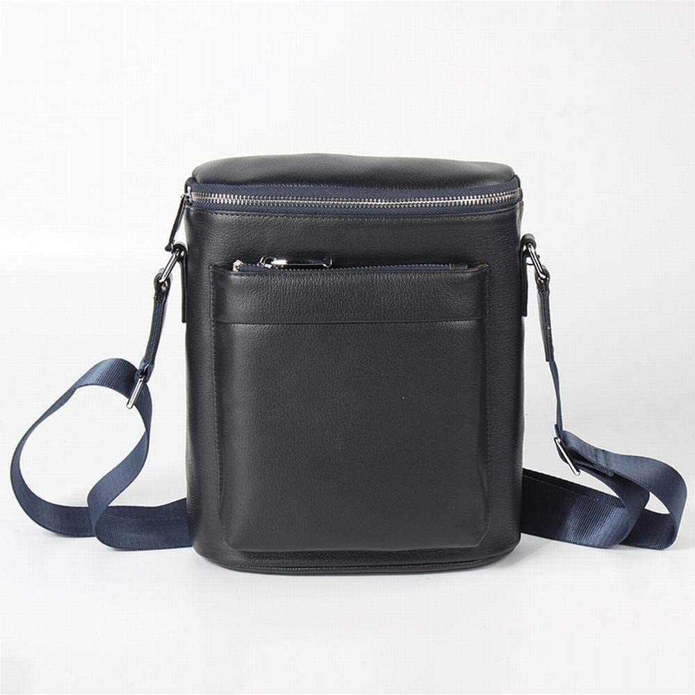 RABILTY Leather Mens Bag Shoulder Bag Mens Casual Diagonal Cross-Head Leather Backpack Bag Color : Blue