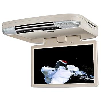 ddauto dd1556b Overhead Reproductor de DVD 1080P HD IPS Pantalla Flip Down reproductor multimedia para coche