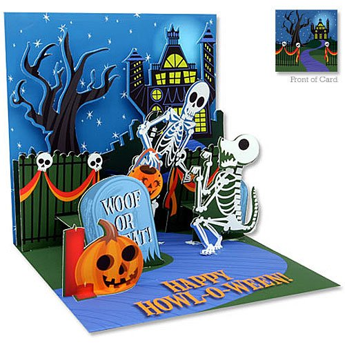 3D Greeting Card - SKELETONS - Halloween