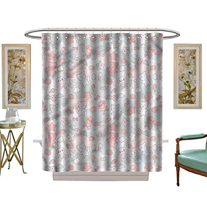 Amazon.com: HoBeauty home Small Shower Curtain,Doodle ... on design ideas for small home, design ideas for small basements, design ideas for wooden letters, design ideas for living rooms, design ideas for kitchen cabinets, design ideas for small kitchens, design ideas for small yards, design ideas for small windows, design ideas for small bedrooms, design ideas for wet bars, design ideas for small porches, design ideas for small decks, design ideas for closets, design ideas for small offices,