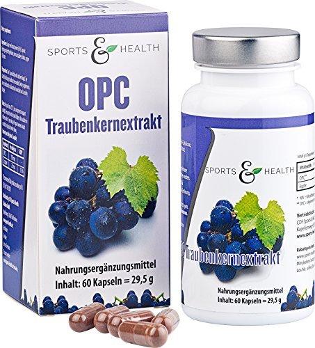 OPC Traubenkernextrakt Kapseln - TESTSIEGER auf Strawpoll.de - 250 mg reines OPC pro vegetarischer Kapsel - 2 Monatsvorrat - reines Anti Oxidans - Made in Germany!