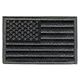 velcro sew on patch - Patriot Club American Flag Embroidered Patch Tactical Morale Velcro USA Military Uniform Emblem (Stealth Black)