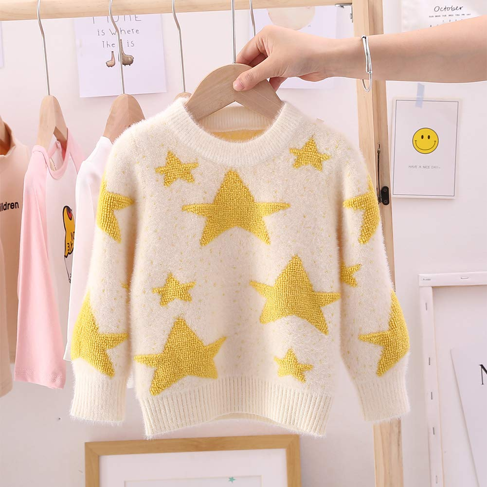 Moonnut Baby Boys Girls Christmas Pullover Sweater Soft Winter Tops Knitwear Xmas Gift for Kids