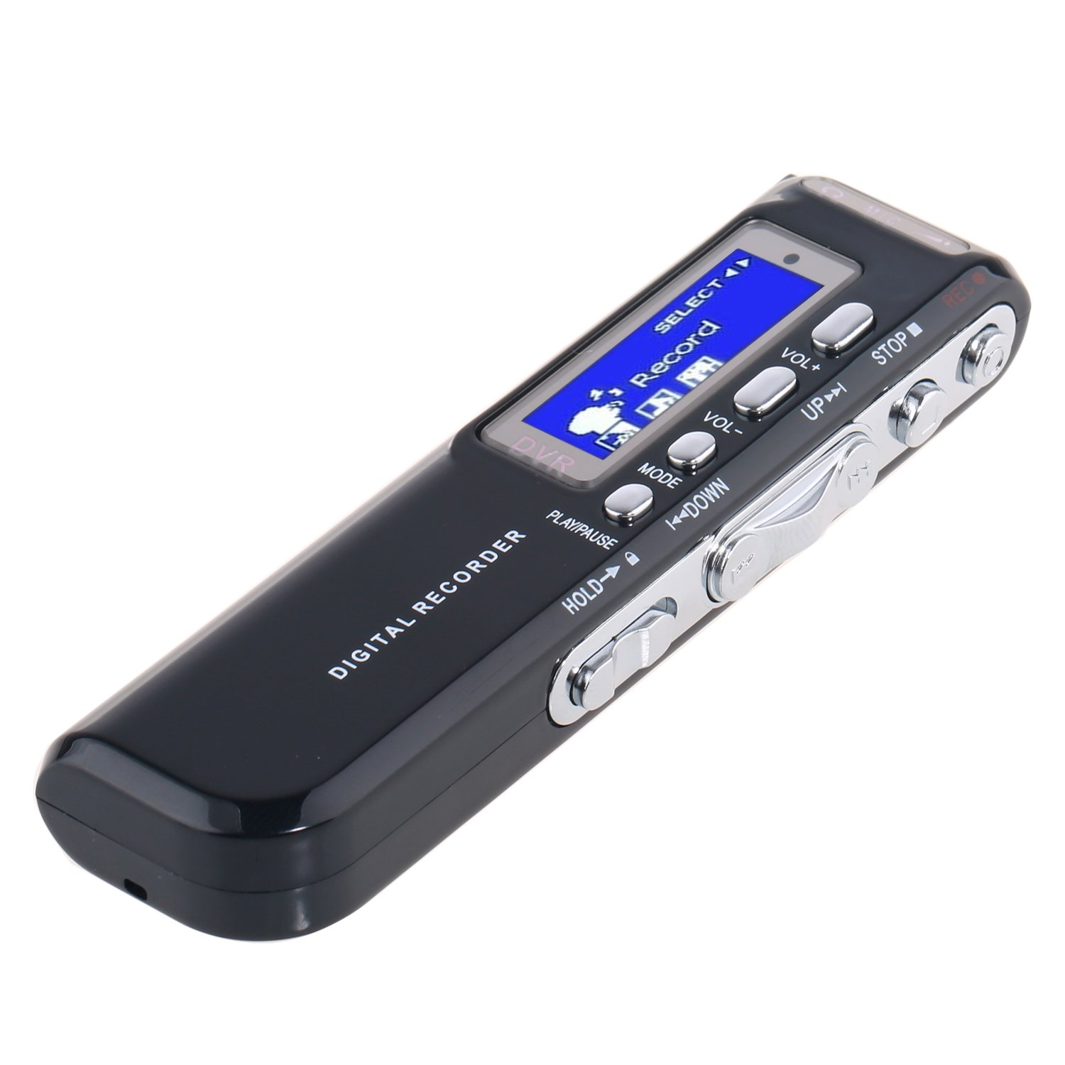 MonoDeal Digital Portable Voice Recorder and MP3 Player with USB Port - Black …