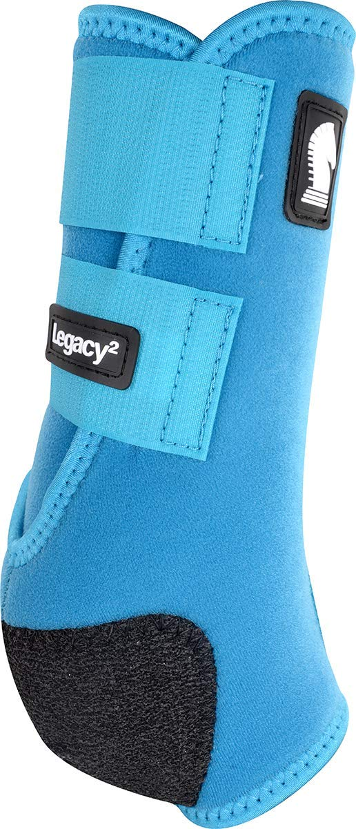 Classic Equine Legacy2 System Front Boot (Solid), Turquoise, Medium by Classic Equine (Image #1)