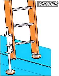 POPMOON Ladder Accessories 600C Ladder Leveler One Pair,Available for Home Ladder Extender Leg, Leveling Leg.