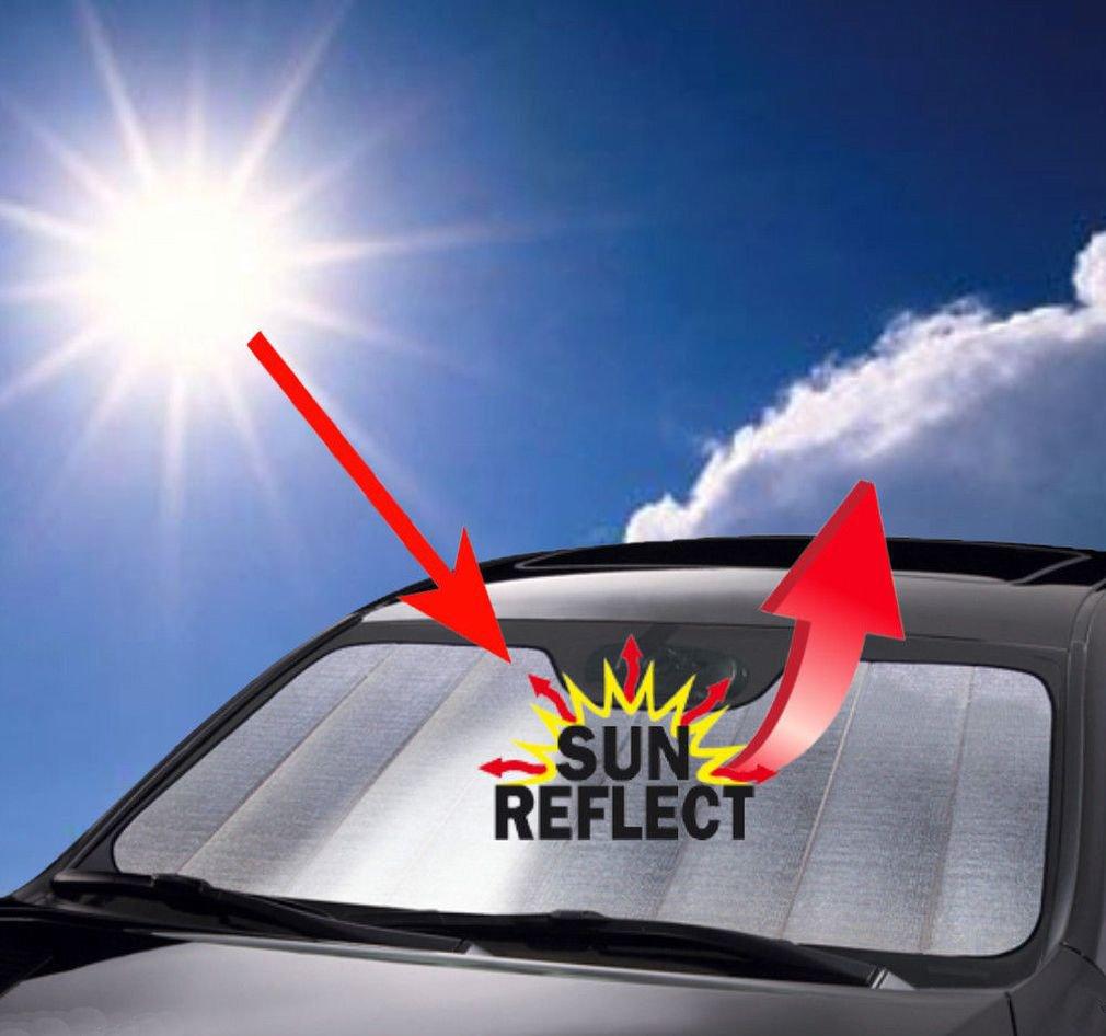 Fashion Foldable Car Windshield Visor Cover Block Front Rear Window Sun Shade