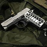 """SIG SAUER P238 Grips Billet Aluminum Brushed """"SIG P238 Cobra Skeleton"""""""