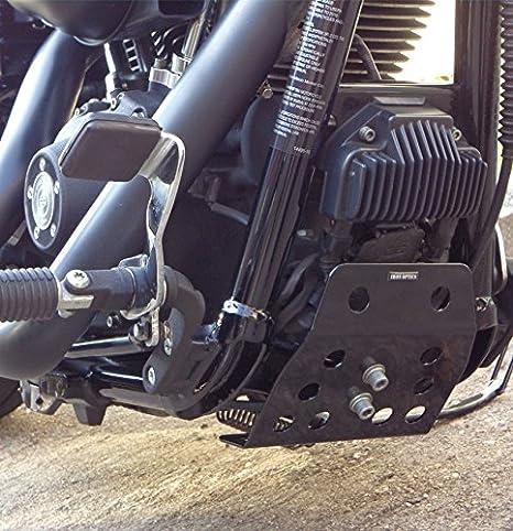Color:schwarz gl/änzend;Motorradmodell:Harley Davidson Dyna Street Bob Iron Optics Motorrad Motorschutz Bugspoiler Dyna 3