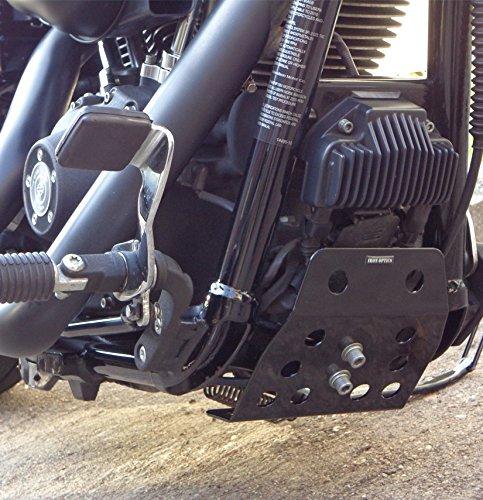Iron Optics Motorrad Motorschutz Bugspoiler Dyna 3, Color:schwarz glä nzend; Motorradmodell:Harley Davidson Dyna Wide Glide Color:schwarz glänzend; Motorradmodell:Harley Davidson Dyna Wide Glide