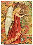 boxed Punch Studio Musical Angel Christmas Dimensional Holiday Boxed Greeting Cards with Embellishments (Set of 12)