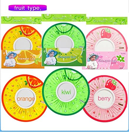 [Manito] Fruit Shampoo Cap / Baby Kid Child Adult Shampoo Bath Shower Cap Hat Wash Hair Shield (Kiwi) Totalkids