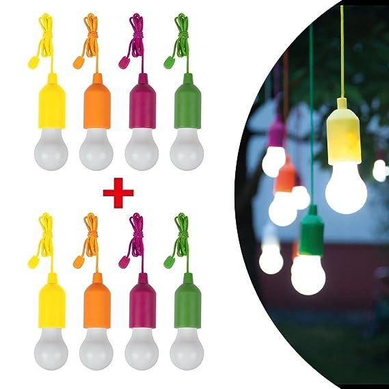 LED-Dekoleuchte 4er Set LED 1W Neutral-blanc HandyLux Colors M14159 jaune, Orange, Magenta, verde