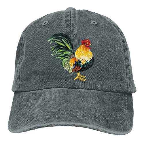 HONGYUDE Lifelike Rooster Denim Baseball Caps Hat Adjustable Cotton Sport Strap Cap for Men Women -