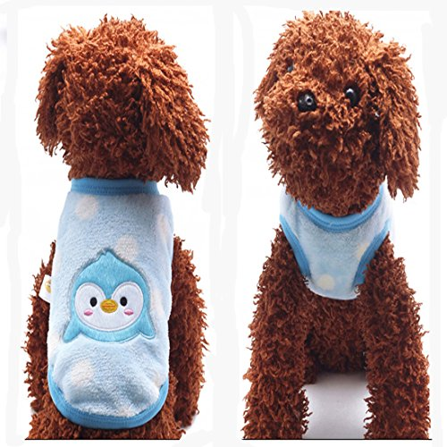 Product image of MD New Cartoon Teacup Dog Clothing Baby Pet Clothes Puppy Winter Warm Thick Sweater (XXXS, Blue)