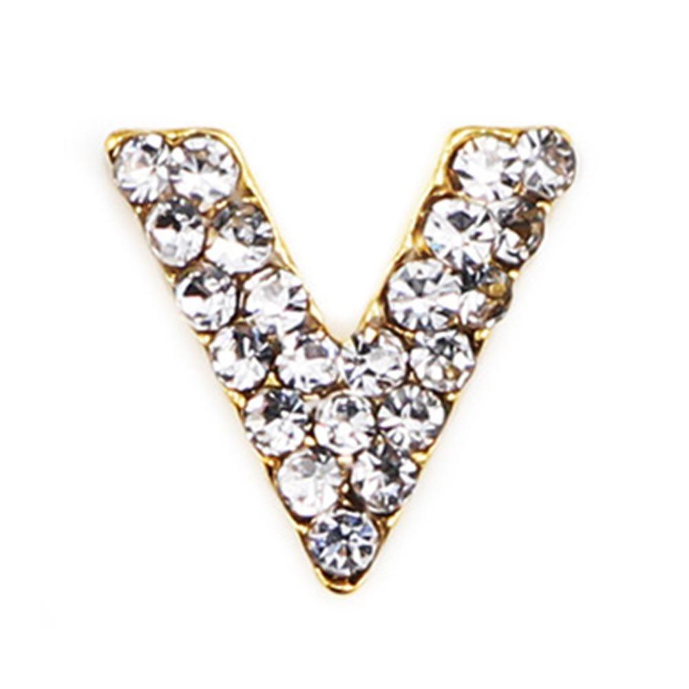 Rocita Pedrería de uña 3D, Rhinestone de Triángulo Flecha Diamante Aleación Nail DIY Decoraciones Cristales Joyería de Uñas 1/10 PCS