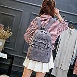 JD Million shop Lace Backpack Students Solid Velvet Backpack Book...