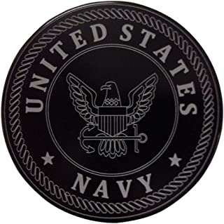 """product image for HMC Billet United States Navy Aluminum 4"""" Laser Engraved Trailer Hitch Cover"""
