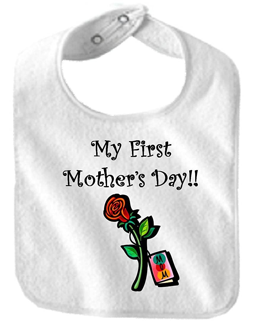 MY FIRST MOTHER'S DAY - BigBoyMusic Baby Designs - Bibs - White Bib