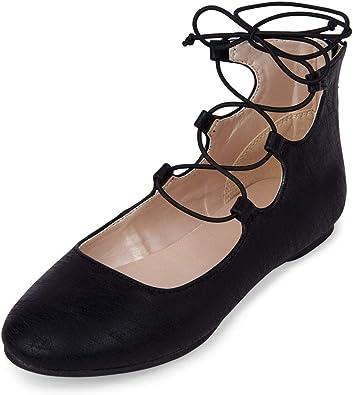 Lace-up Ballet Flat