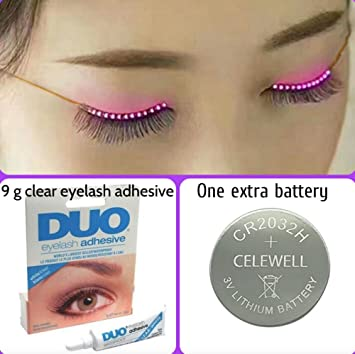 Amazon.com : LED Eyelashes Flashing False Eyeliner | Plus ...