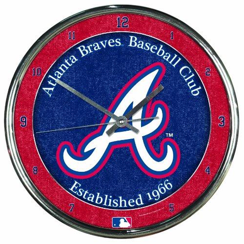 MLB Atlanta Braves Chrome Clock, 12