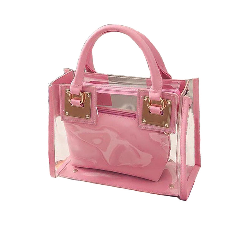 735d21d687 2017 Womens Girls Clear Transparent Shoulder Bag Jelly Candy Summer Beach  Handbag