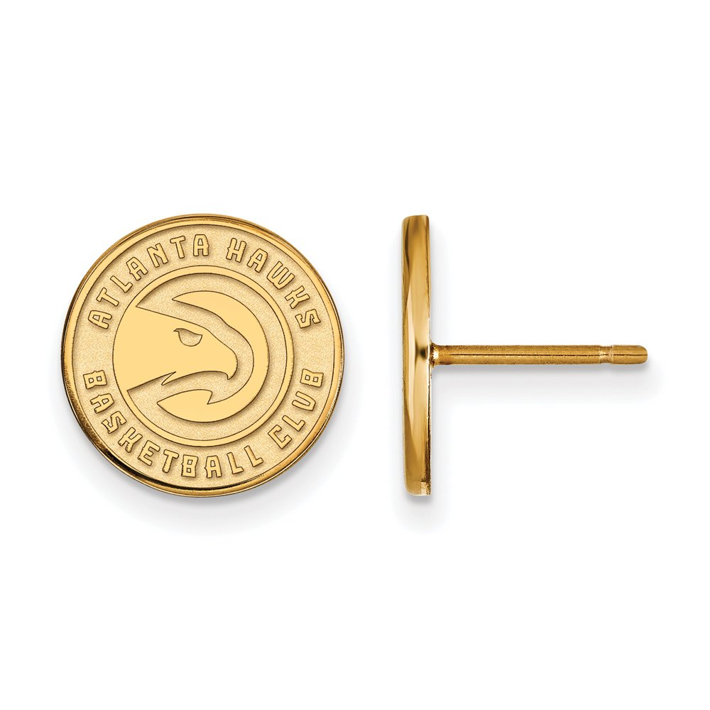 NBA Atlanta Hawks Post Earrings in 14K Yellow Gold