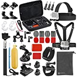 VANWALK Basic Common Accessories for GoPro HERO5 Session 4/3+/3/2/1 Camera, DBPOWER, AKASO, Canany, Lightdow, SJCAM, APEMAN, Campark, ODRVM, Xiao mi Yi 2/4K Action Video Cameras (36 Items)