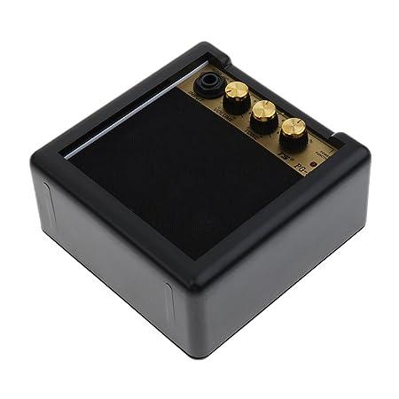 MagiDeal Mini Portátil 5w 9v Guitarra Eléctrica Práctica Amp Amplificador Altavoz Partes: Amazon.es: Instrumentos musicales