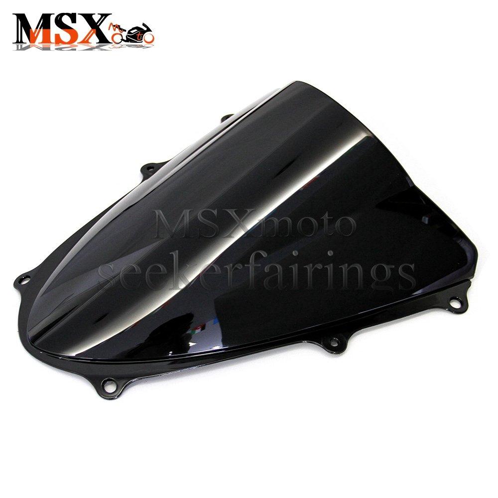 MSXmoto Windshield Windscreen Double Bubble Suzuki TL1000R 1998 1999 2000 2001 2002 98 99 00 01 02 Black