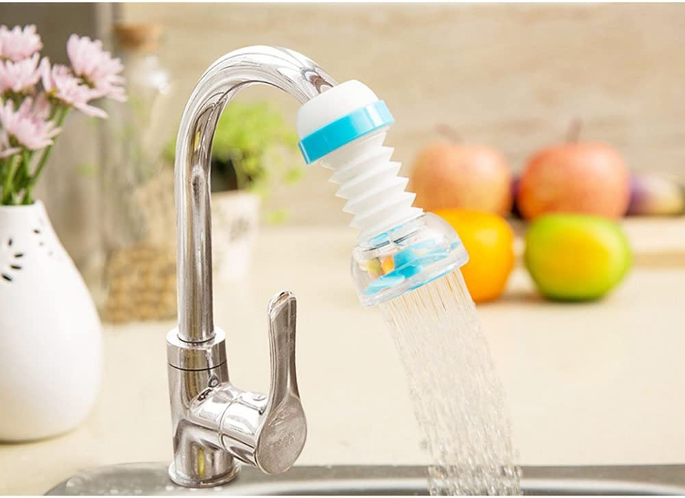 shun yi Faucet Splash Head Extension Extender Filter Kitchen Household tap Water Spray rotatable Nozzle Nozzle Green