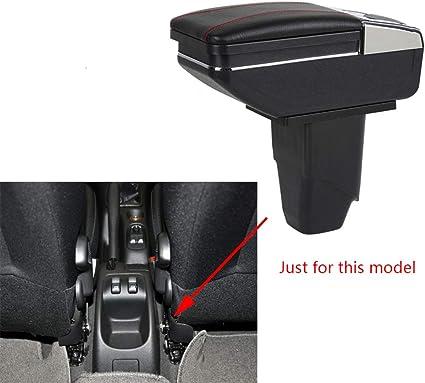Caja de Almacenamiento Reposabrazos de Piel para 206 207 2006-2013 Consola Central con Cenicero & Portavasos Negro: Amazon.es: Coche y moto