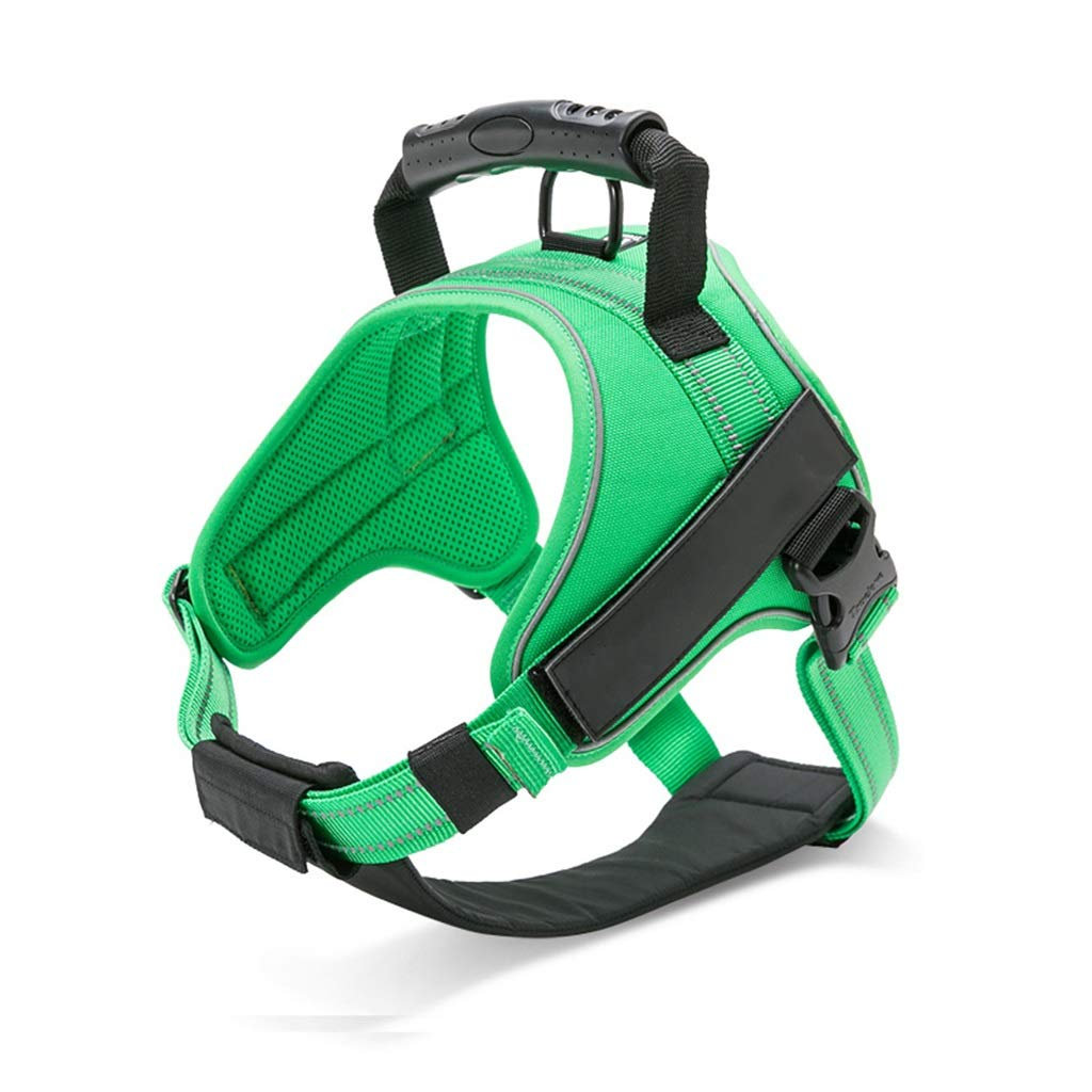 Green XL Green XL GWM Leashes Pet Harness, Dog Strap, Dog Vest, Large Dog, Explosion-Proof, Dog Leash, Pet Chest Strap, Pet Supplies (color   Green, Size   XL)
