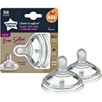 TOMMEE TIPPEE Closer to Nature Super Soft Teat Fast Flow 2 Pack