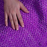 "JET-BOND JJ16 Mermaid Fish Tail Blanket Cotton Loose Knitting XL Plus Size Leisure Rug for Adult 75""x35"" approx"