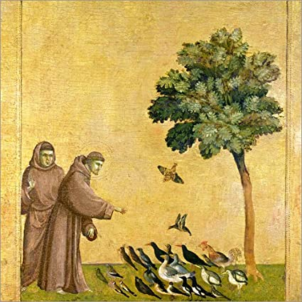 Poster 30 X 30 Cm St Francis Assisi Preaching To The Birds Giotto