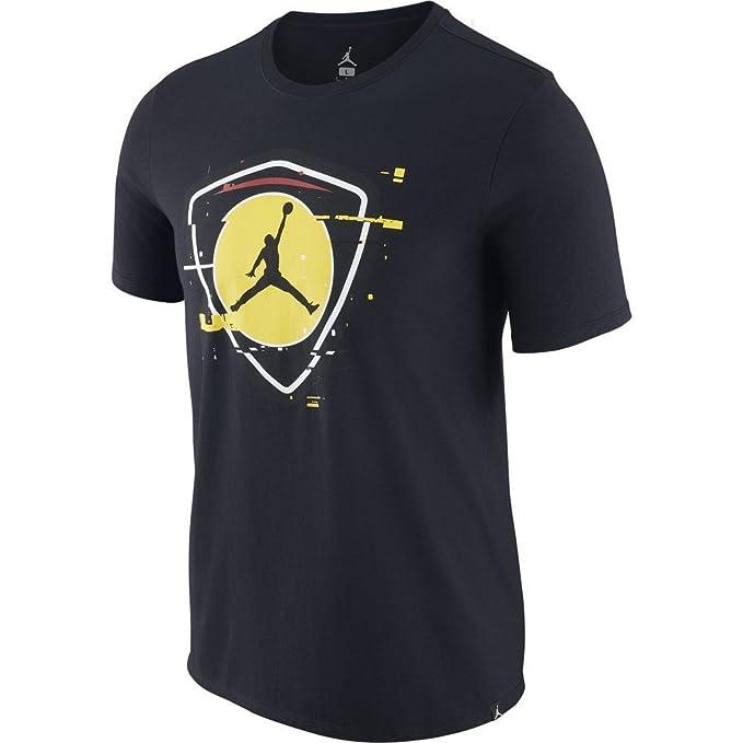 Jordan Camiseta Sportswear Last Shot 1 Negro/Amarillo Talla: XS (X-Small