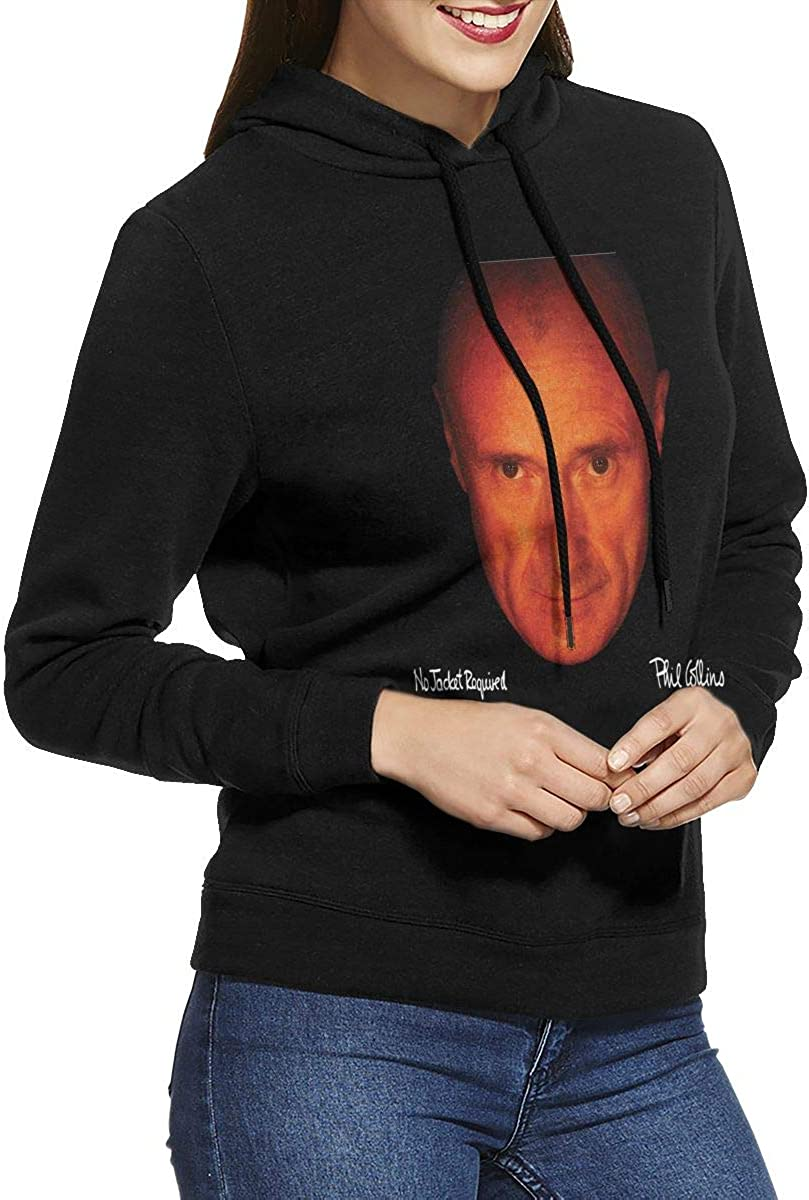 Womens Phil Collins No Jacket Required Hoodies Sweater Black