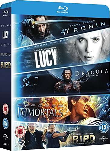 Blu ray 5-Movie Starter Pack: Lucy/Dracula Untold/47 Ronin/Immortals/R.I.P.D [Blu-ray]