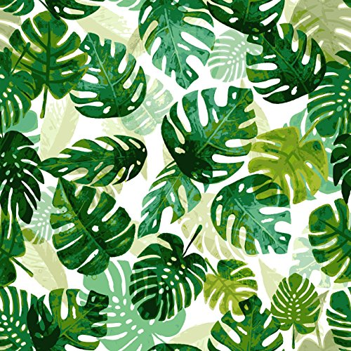 - Stitch & Sparkle Fabrics, Tropical, Layering Tropical Leaves Cotton Fabrics, Quilt, Crafts, Sewing, Cut by The Yard