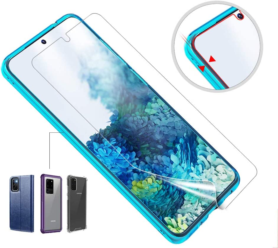 S20+ 3-Pack, 6.7-Inch Fingerprints Sensor Support Case Friendly Bubble Free HD Clear Flexible TPU Film for Samsung Galaxy S20 Plus AloMit Screen Protector for Galaxy S20 Plus 5G,S20 Plus