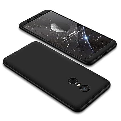 Abuenora Funda para Xiaomi Redmi 5 Carcasa Antigolpes Protección 360 Integral Protege Pantalla y Borde Cubrido Parachoques Case Color Negro